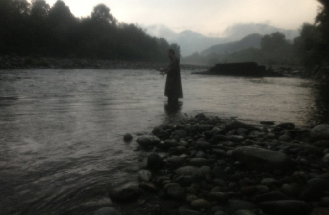 Francesco pesca al tramonto