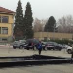 Dimostrazioni di lancio nel piazzale
