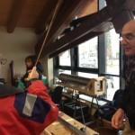 Artigiani di canne in legno