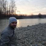 Floro tassone, tramonto sul fiume Orco