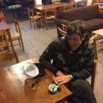 Alessandro Negri si rilassa con la sua mini-canna