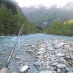 La mia canna affronta il fiume