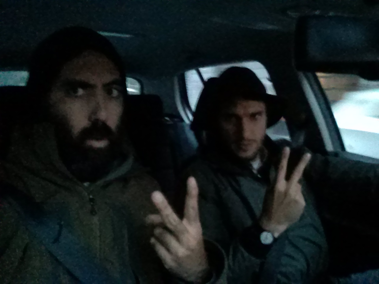 Francis e Pietro on the road
