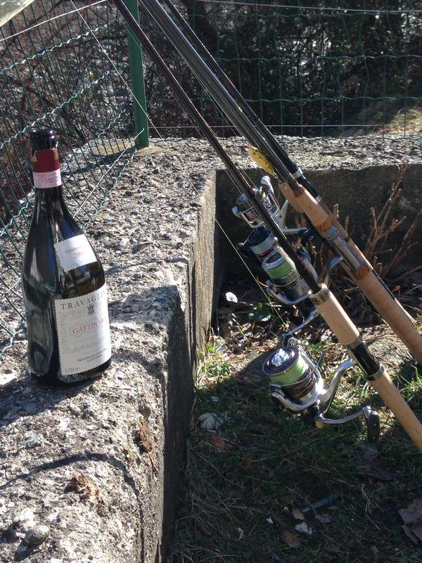 Gattinara Travaglini 2005 & canne da pesca