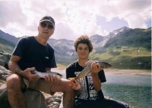 Federico a pesca con il nonno