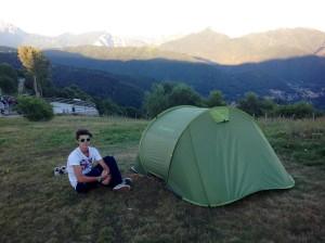 La notte in tenda