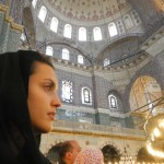 moschea ragazza velo