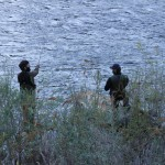 Francis & Pietro in pesca sul Sesia