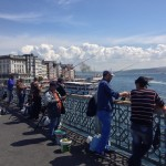 Pescatori dal ponte di Galata