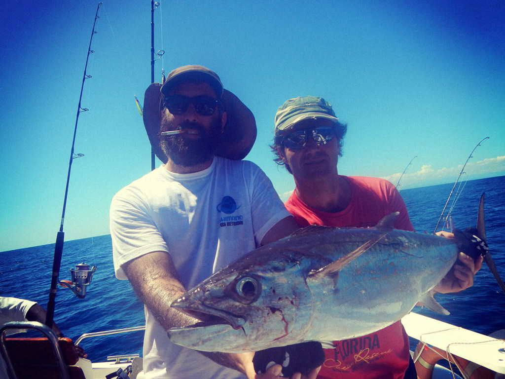 Io e Ale con un Dogtooth Tuna