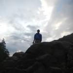 Il pescatore si staglia contro il cielo!