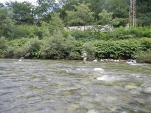Paolo in pesca nel Sesia