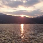 Il lago al tramonto!