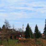 Moschea sullo sfondo