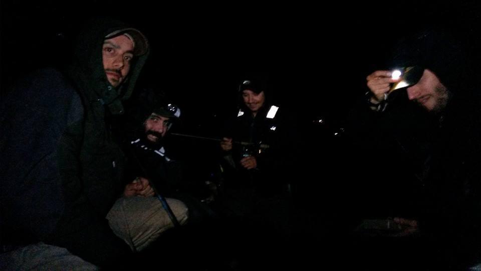 Pesca notturna con Pierluigi, Domenico e Raf