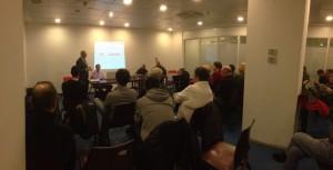 Sala piena durante la presentazione del libro S.C.I.