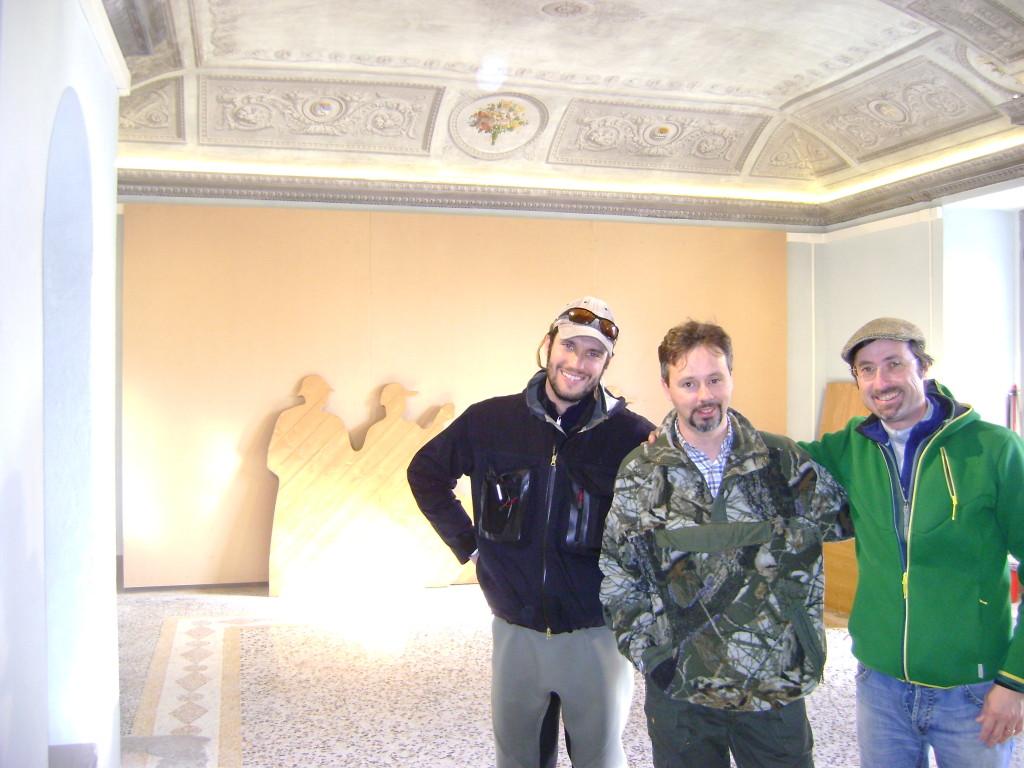 Pietro Savino e Simone nelle sale del Museo della Pesca