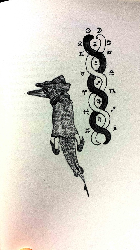 Illustrazione del luccio su Bestiario della pesca con canna in acque dolci