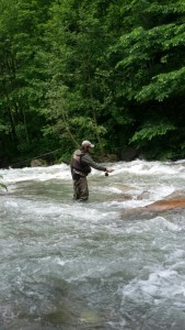Pietro in pesca a Ninfa
