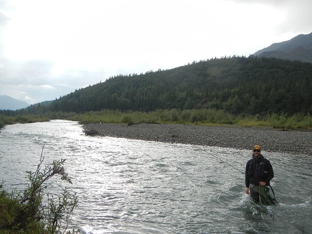 Pietro , Pescando temolo a secca in Alaska