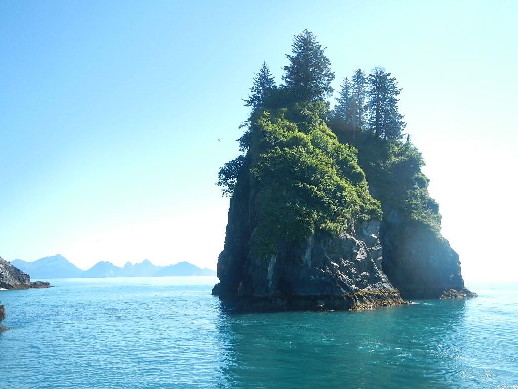 Paesaggio nel mare d'Alaska