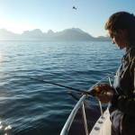 Marta in pesca al Salmone Atlantico
