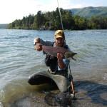 Pietro e Red Salmon a mosca