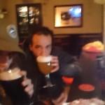 La fine di giornata: medie al pub!