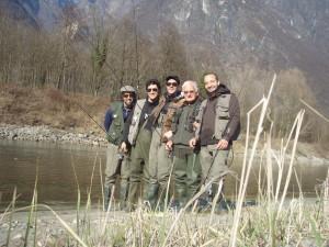 L'Anonima Cucchiaino al gran completo e il Maestro (da sinistra: Francis, Pietro, Franco, Ruccio e Jacopo)