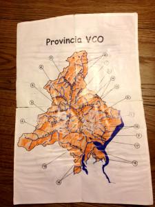 Mappa del bacino idrogeografico della provincia del Verbano Cusio Ossola