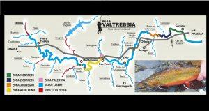 Ecco la mappa della pesca in Alto Trebbia