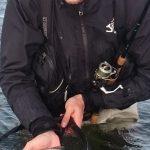 Pietro e una trota di mare