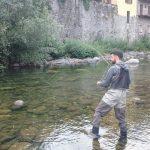 Francesco pesca a mosca a Varallo