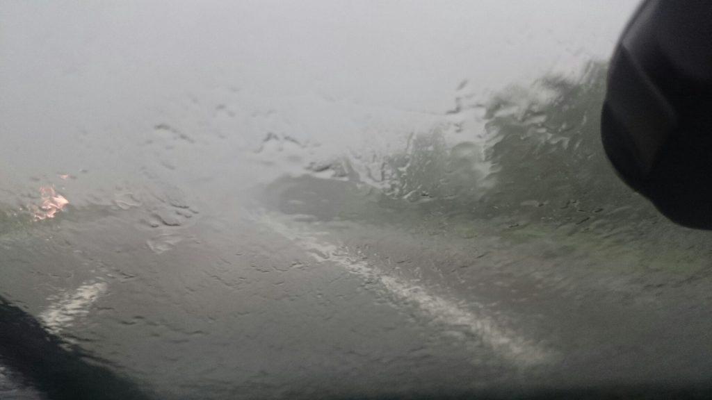 Diluvio in autostrada
