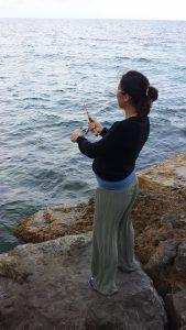 Monica in pesca