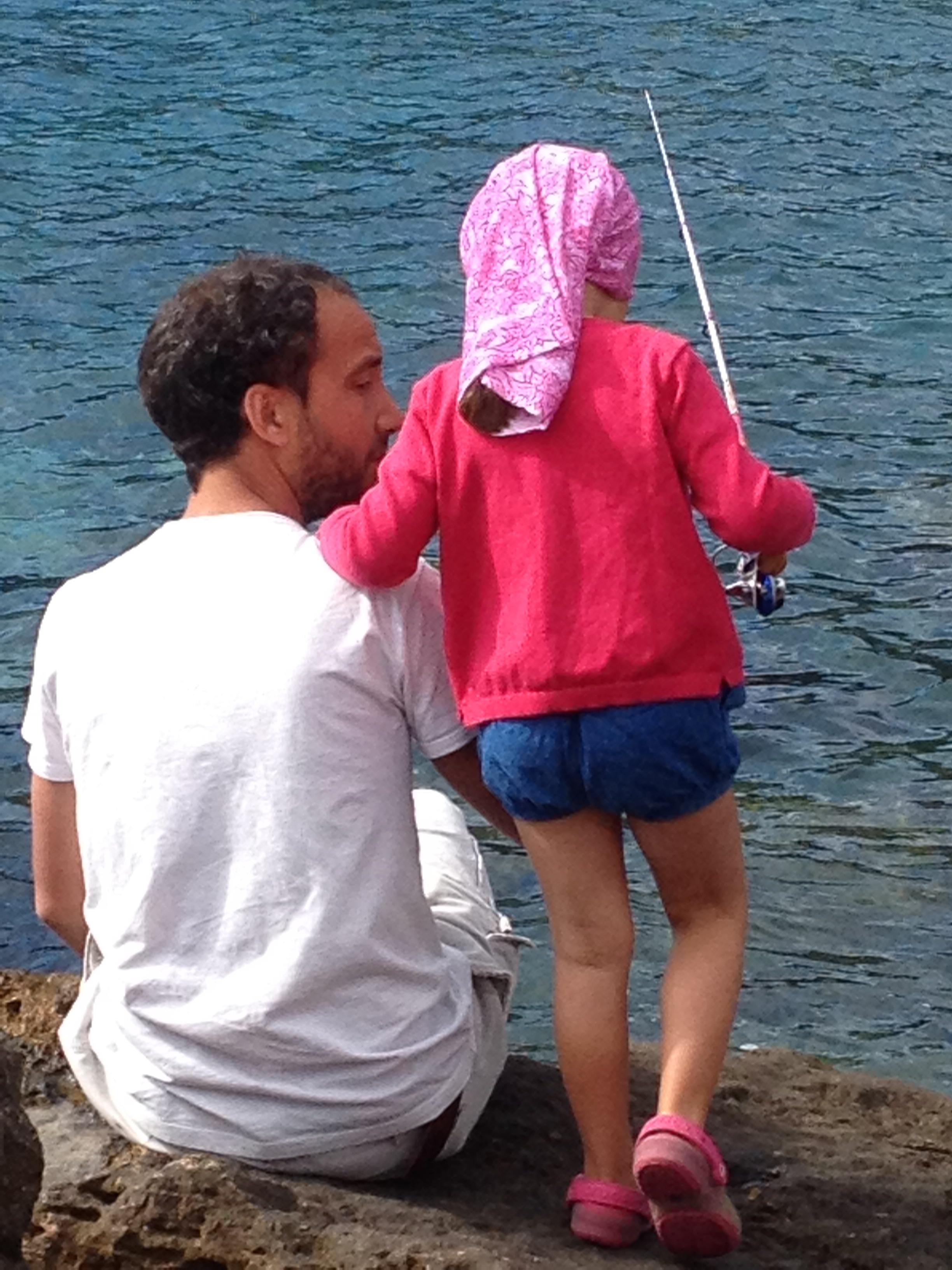 Jacopo e Cecilia a pesca