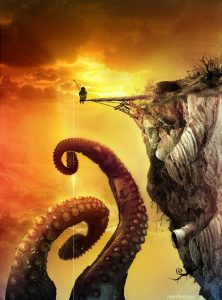 the_fisherman_of_giant_octopus_by_riolcrt - Immagine presa da Deviantart