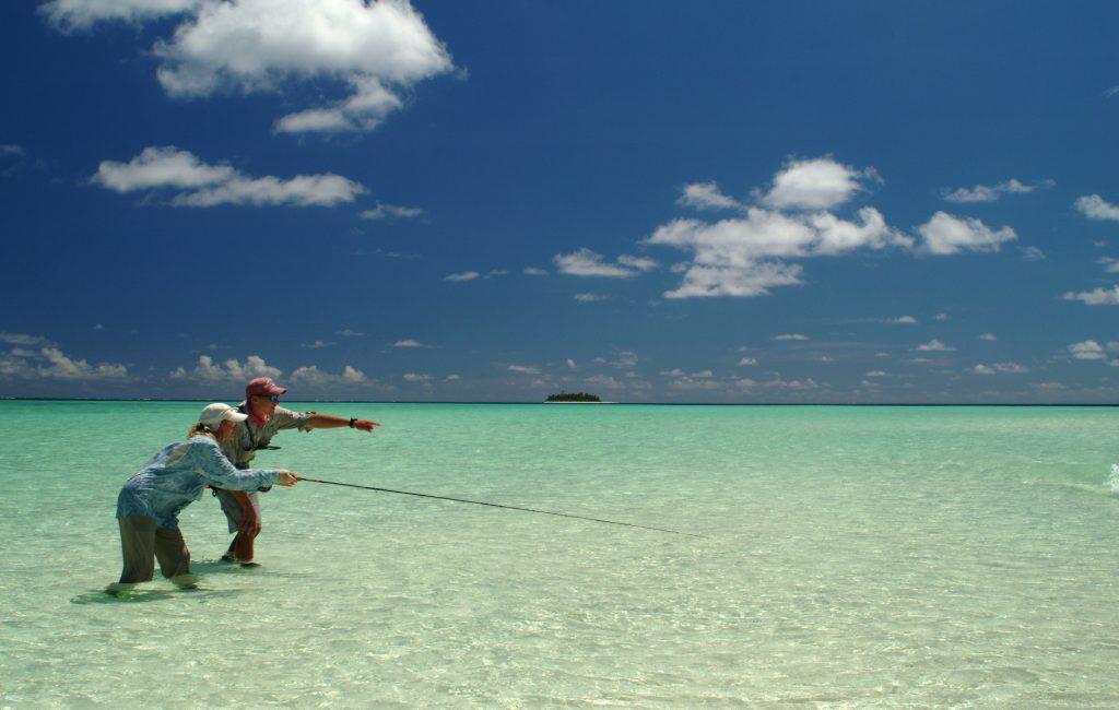 Marica Cicoria e il mare delle Seychelles