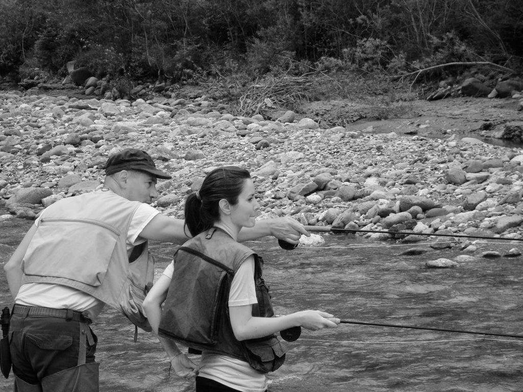 Raul Montanari e Valeria D'Ambrosio in pesca
