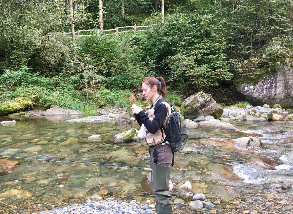 Valeria D'Ambrosio in pesca