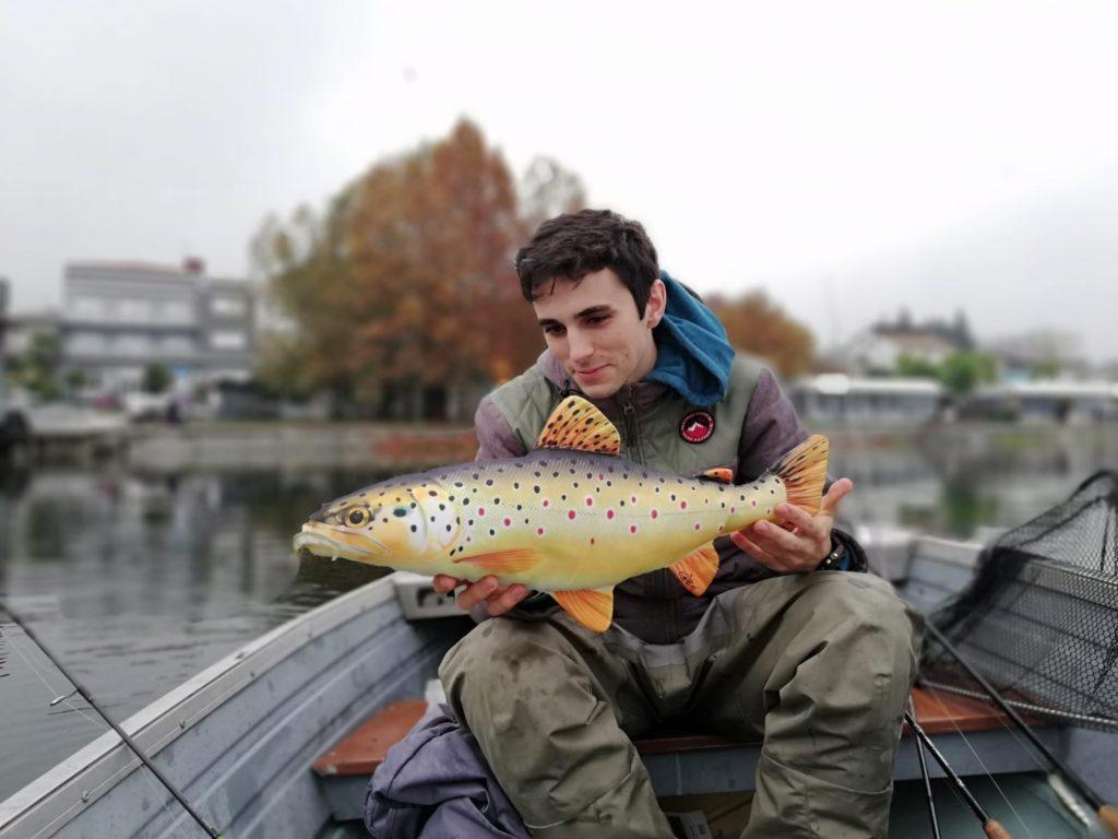 Il giovane Dario Barcella e una cattura straordinaria...