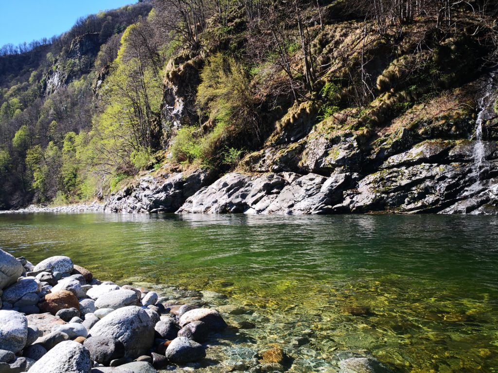 Il fiume Sesia ad Aprile