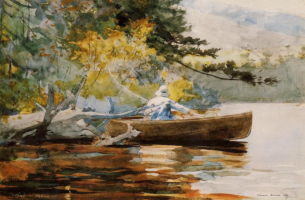 """""""A Good One""""; Winslow Homer"""
