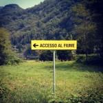 Accesso al fiume in Sesia... segnalazione per la B