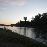 alba sul fiume