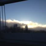 Rientro a San Francisco, nebbia