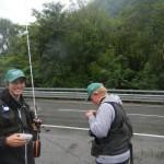 Dario Barcella e Jacopo Taramelli pronti a pescare!