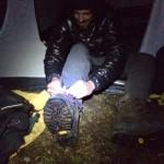 Uscire dalla tenda nel gelo...