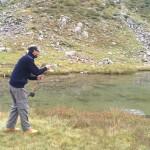 primo lancio iniziare a pescare