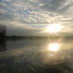 Inizia il tramonto sul lago